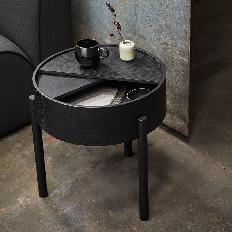 Awesome Contemporary Side Table Ash Ash Base Round Arc By Uwap Interior Chair Design Uwaporg