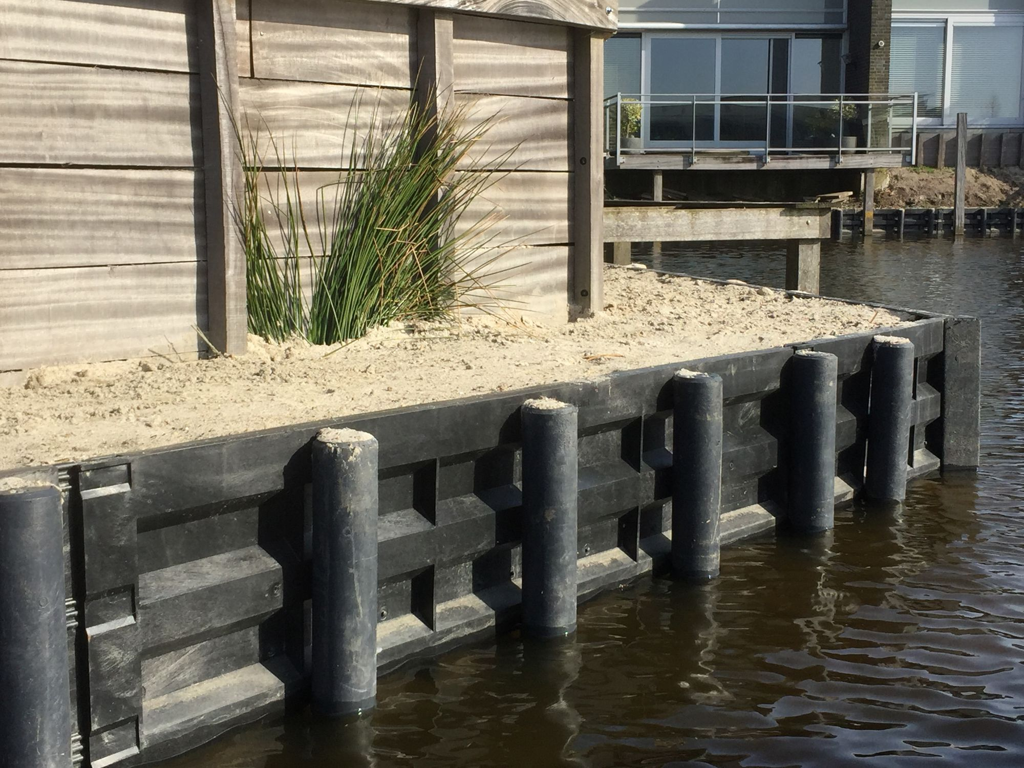 Recycled Plastic Retaining Wall Prefab For Garden Enclosures