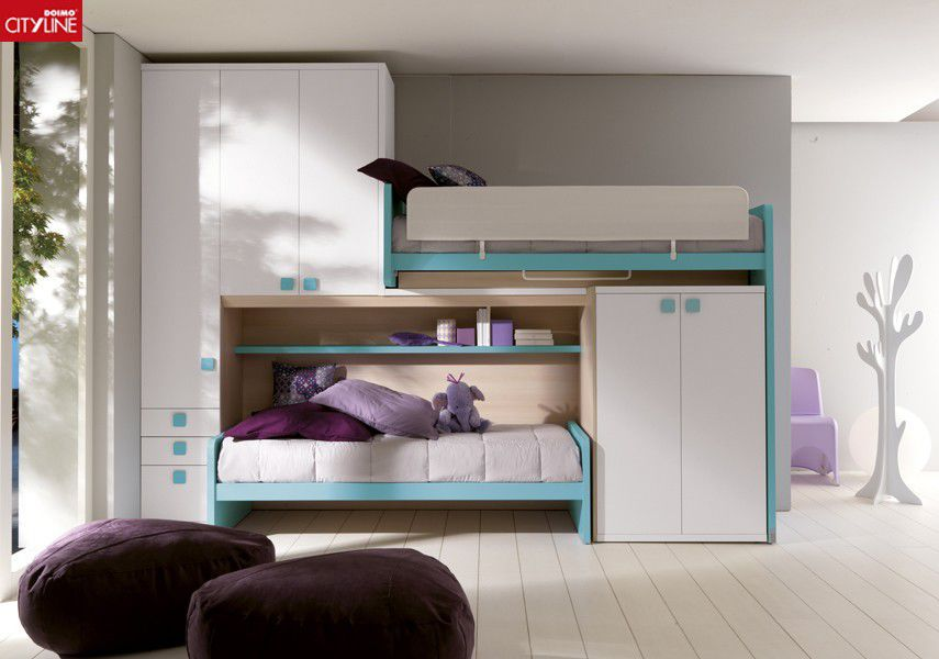 Letto A Castello Doimo.Bunk Bed Single Contemporary With Wardrobe Composizione