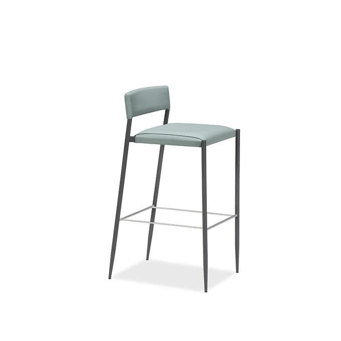 Amazing Contemporary Bar Stool Leather Stainless Steel Alphanode Cool Chair Designs And Ideas Alphanodeonline