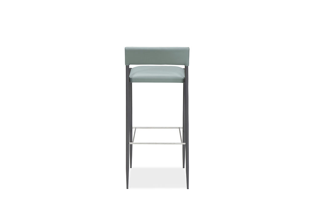 Strange Contemporary Bar Stool Leather Stainless Steel Alphanode Cool Chair Designs And Ideas Alphanodeonline