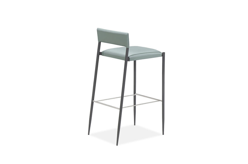Peachy Contemporary Bar Stool Leather Stainless Steel Alphanode Cool Chair Designs And Ideas Alphanodeonline