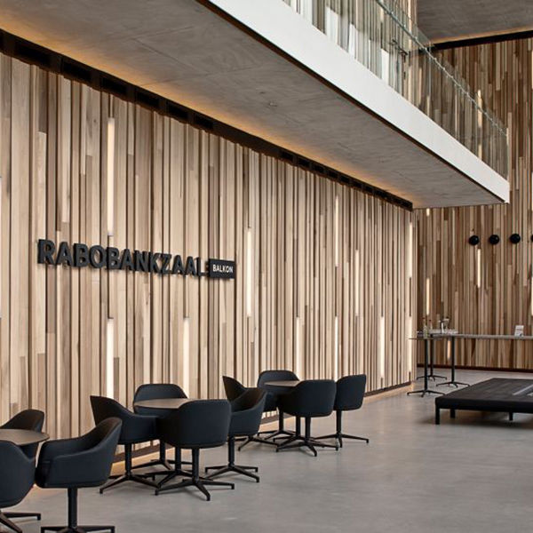 Wooden Wall Cladding Indoor Embossed Linear Wooden