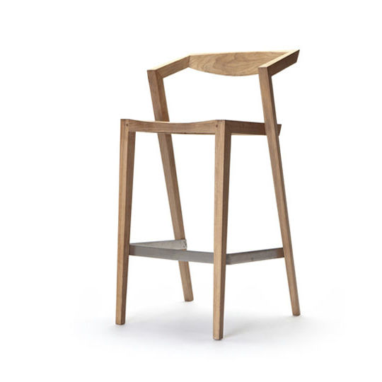 Contemporary Bar Stool Wooden Stackable Outdoor Urban By Jakob Berg
