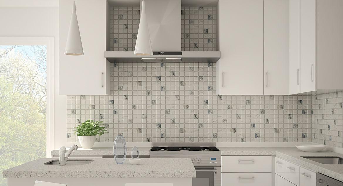 Kitchen mosaic tile / wall / ceramic / polished - MARMARA ...
