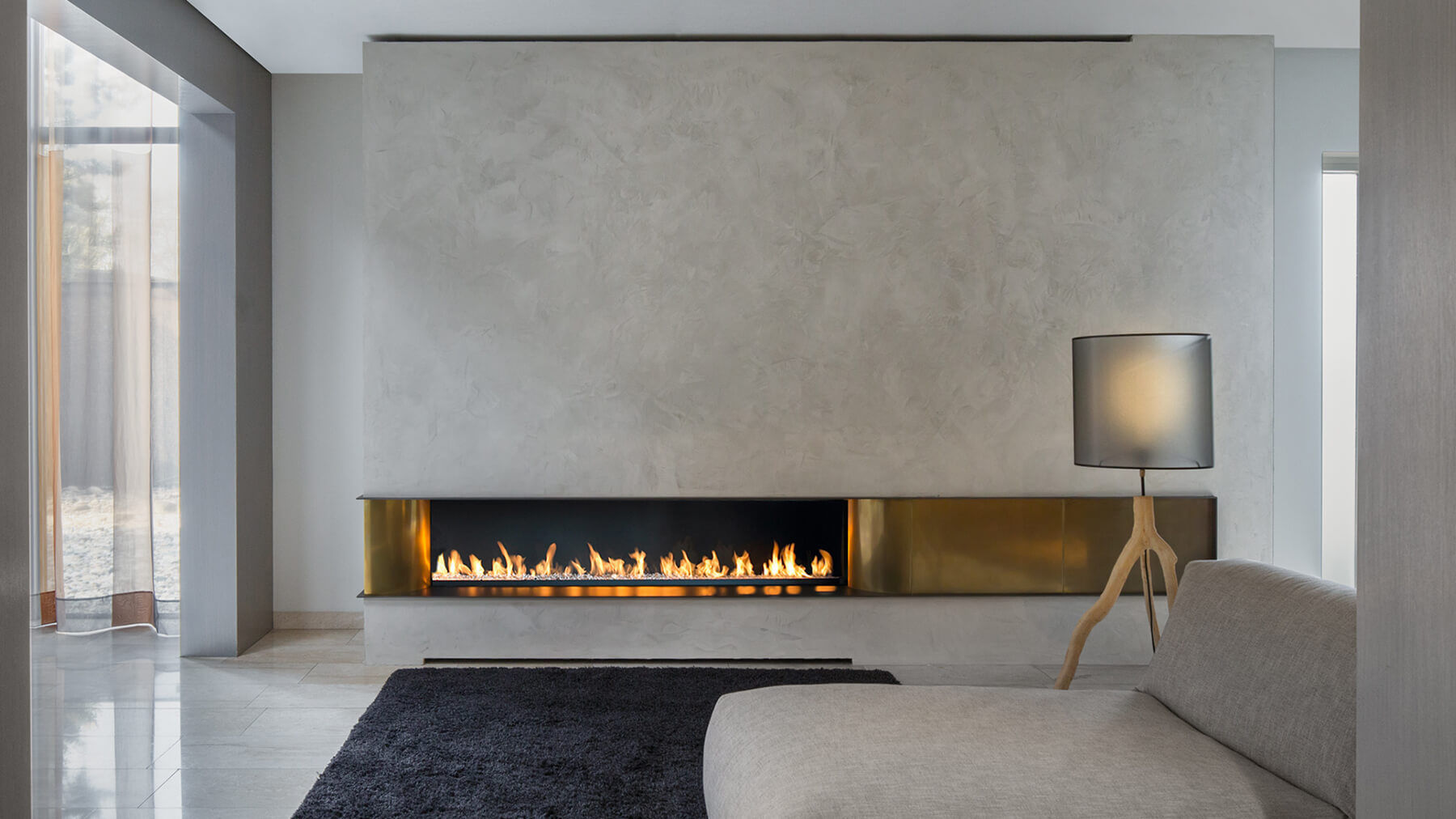 Bioethanol Fireplace Gas Contemporary Open Hearth