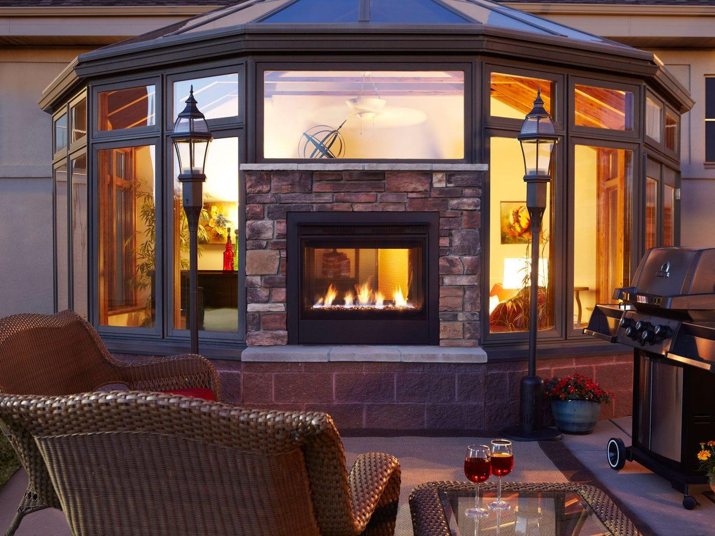 Gas Fireplace Twilight Harman