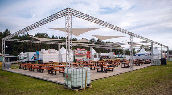 Aluminum truss / square / for special events - LAYHER