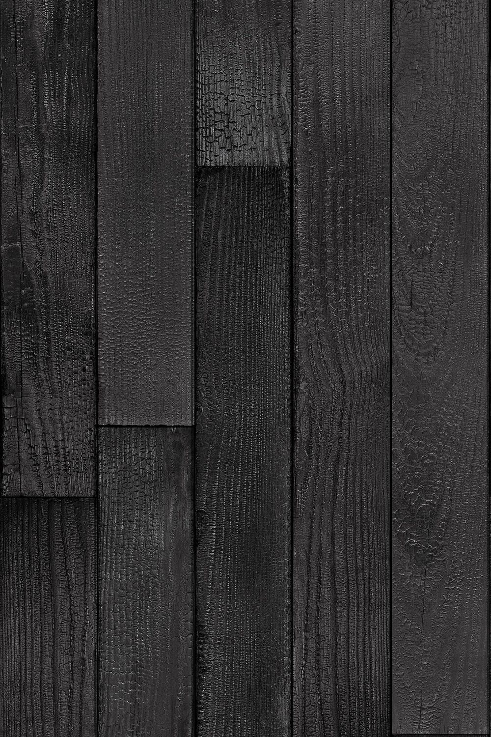 Carta Da Parati Nera contemporary wallpaper - charred cedar - flavor paper