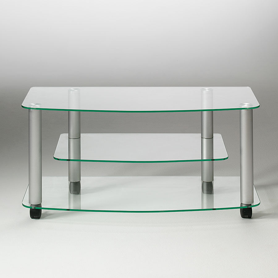 Contemporary Tv Cabinet Glass Aluminum Pforyou Millenium  # Muebles Pezzani