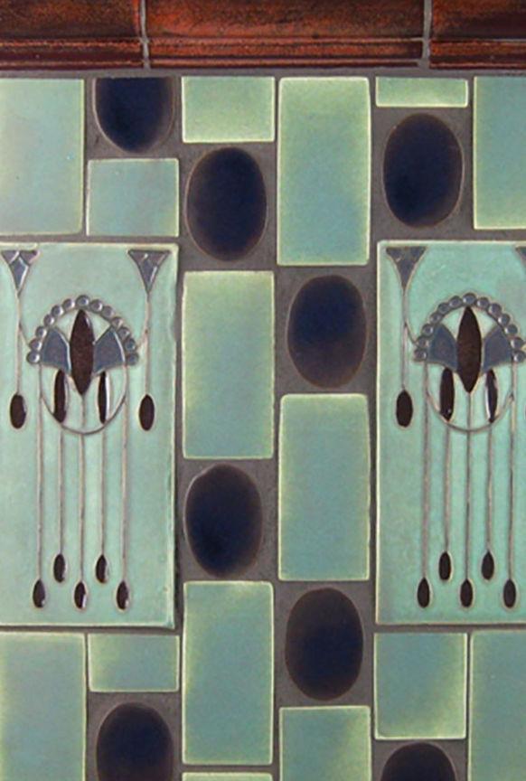 Indoor Tile Art Deco Bonton Design Handmade Floor Ceramic Geometric Pattern