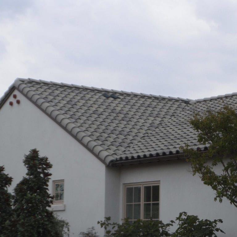 French Roof Tile Mediterranean Lead Crown Roof Tiles Concrete Gray Large