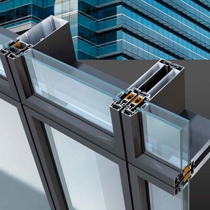 Unitized system curtain wall / aluminum and glass - ADEN METAL