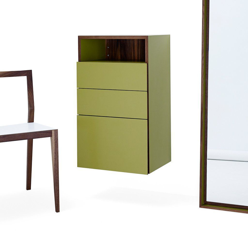M1250 Contemporary Entryway Cabinet Wall Mounted Oak Walnut By Mint Furniture Archiexpo
