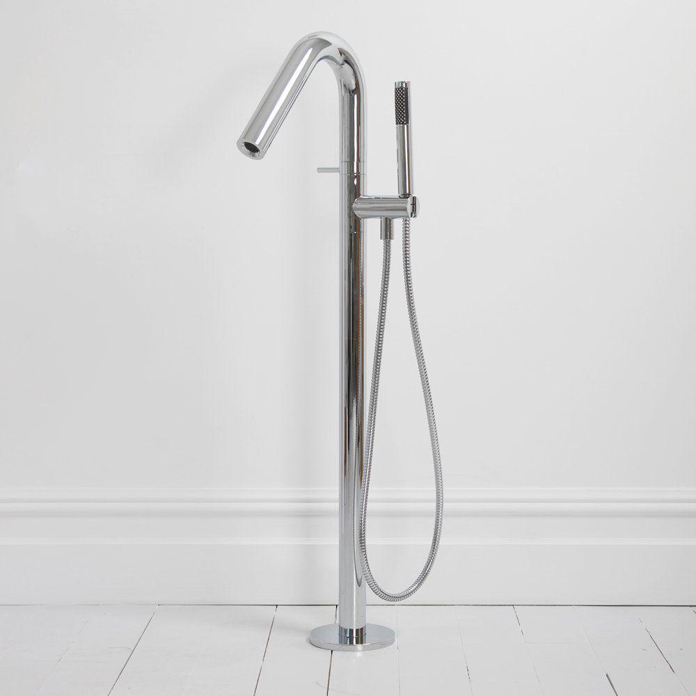 Bathtub Mixer Tap Tube Round Lusso Stone Shower Floor