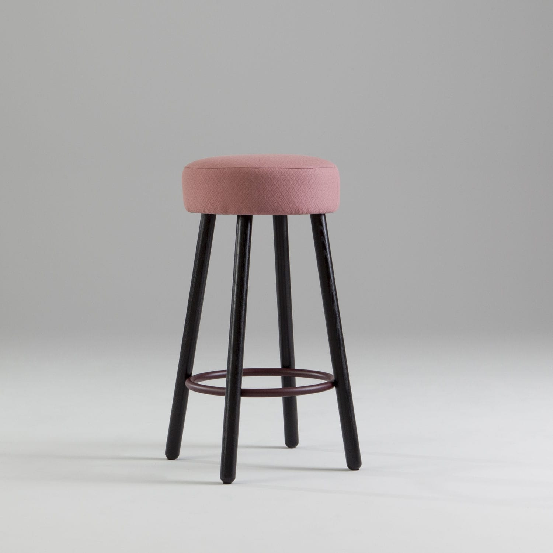 Contemporary Bar Stool Cute Jonas Ihreborn Ash Fabric Upholstered