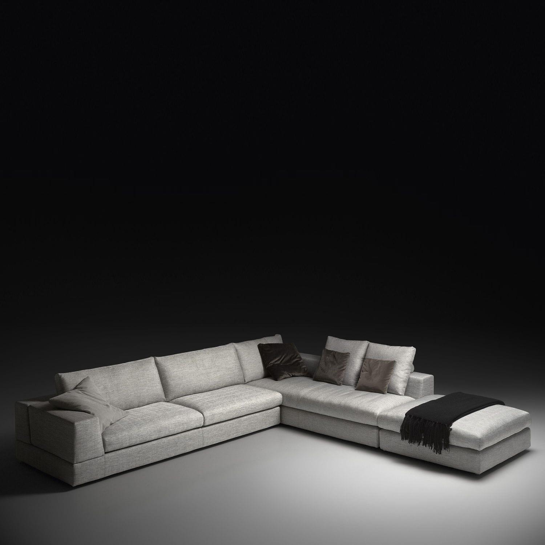 Corner sofa contemporary leather fabric NEOS PINTON SAS