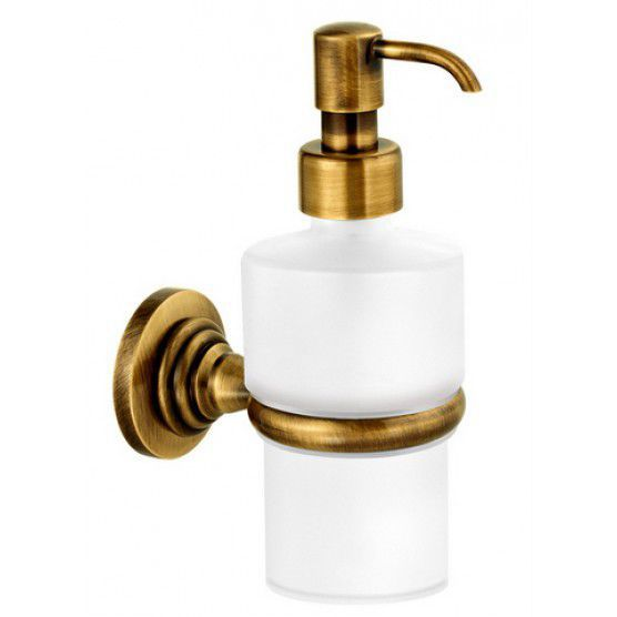 Commercial Soap Dispenser Wall Mounted Chrome Plated Br Gold Elina 6522