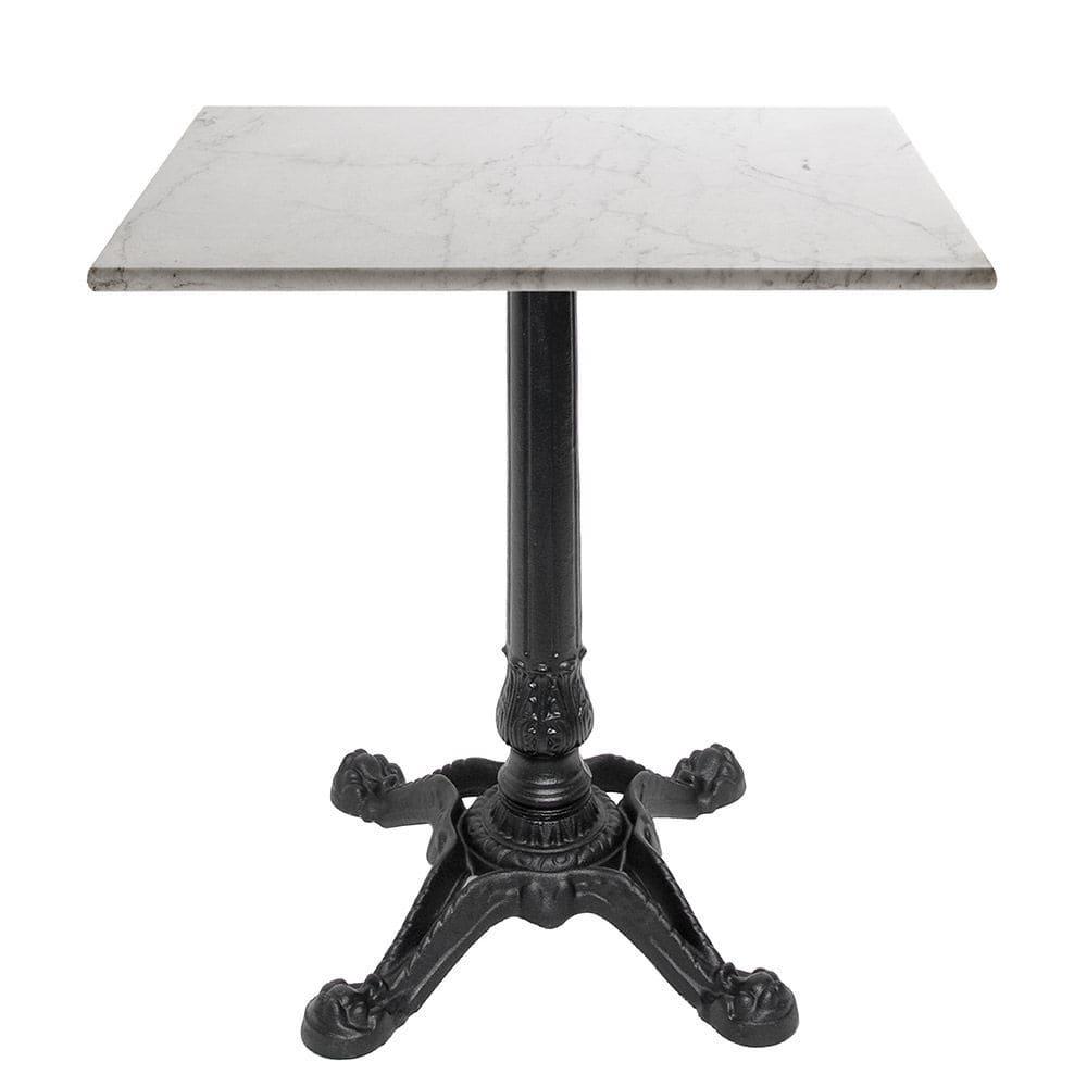 Contemporary Bistro Table Cast Iron Square Outdoor Babis