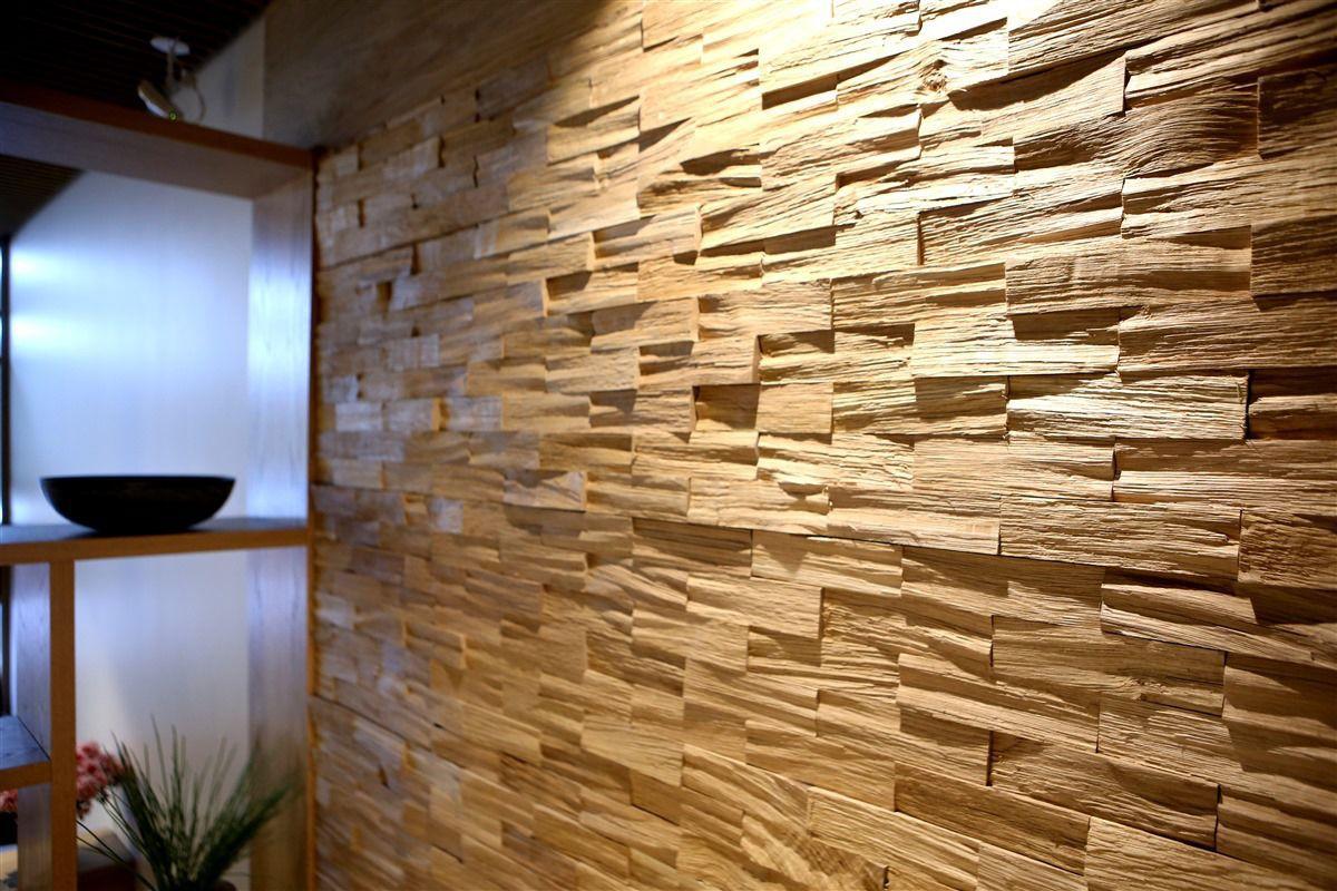 Wooden Wall Cladding Interior Textured Decorative