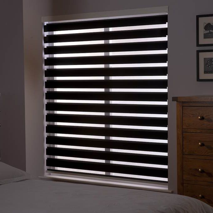 Roller blinds / fabric / chain-operated / blackout - PREMIUM ZEBRA