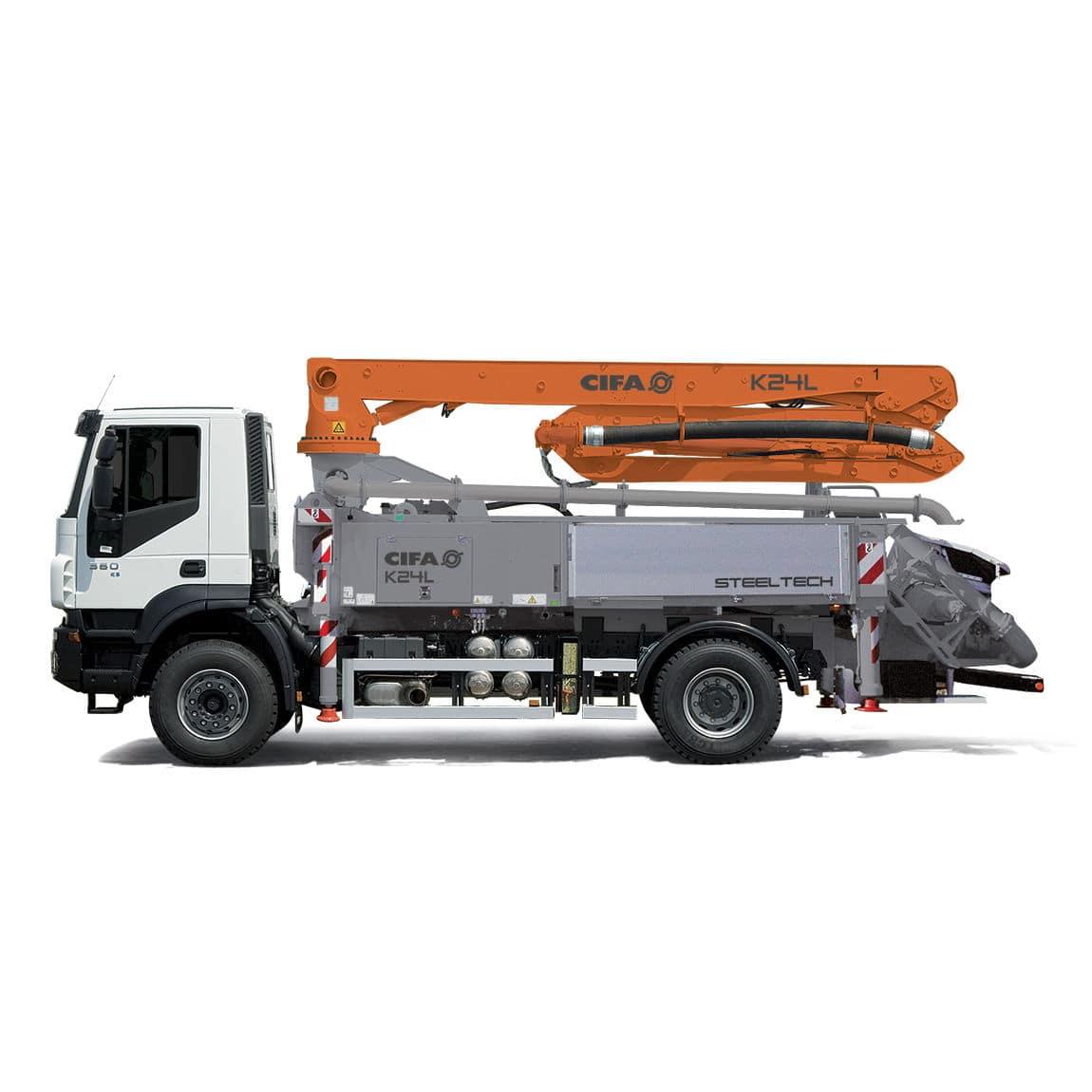 Mobile concrete pump / truck-mounted - K24L - CIFA S p A