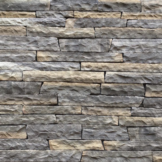 Stone wall cladding / exterior / textured / decorative