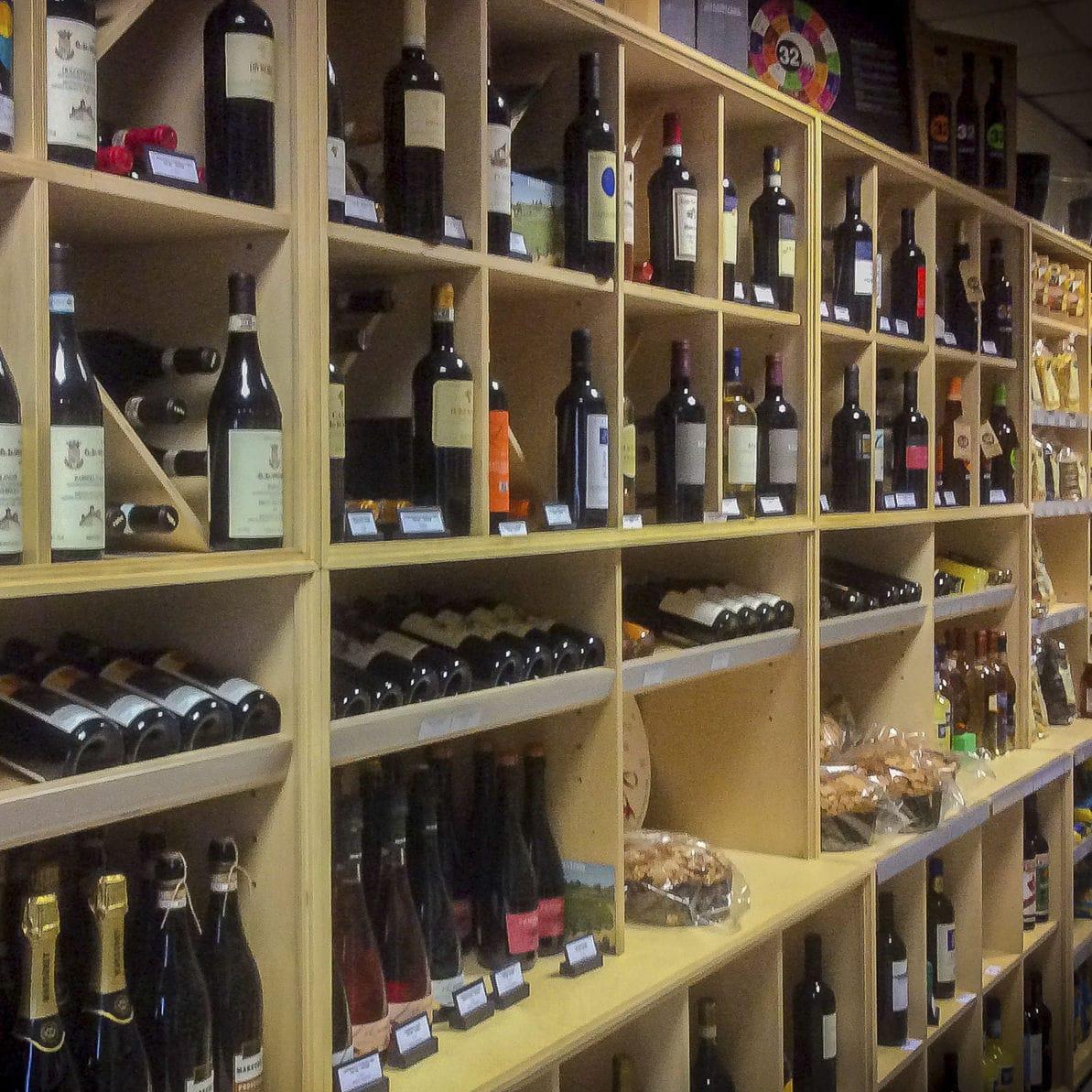 Wall Mounted Display Rack Food Bottle Wooden La