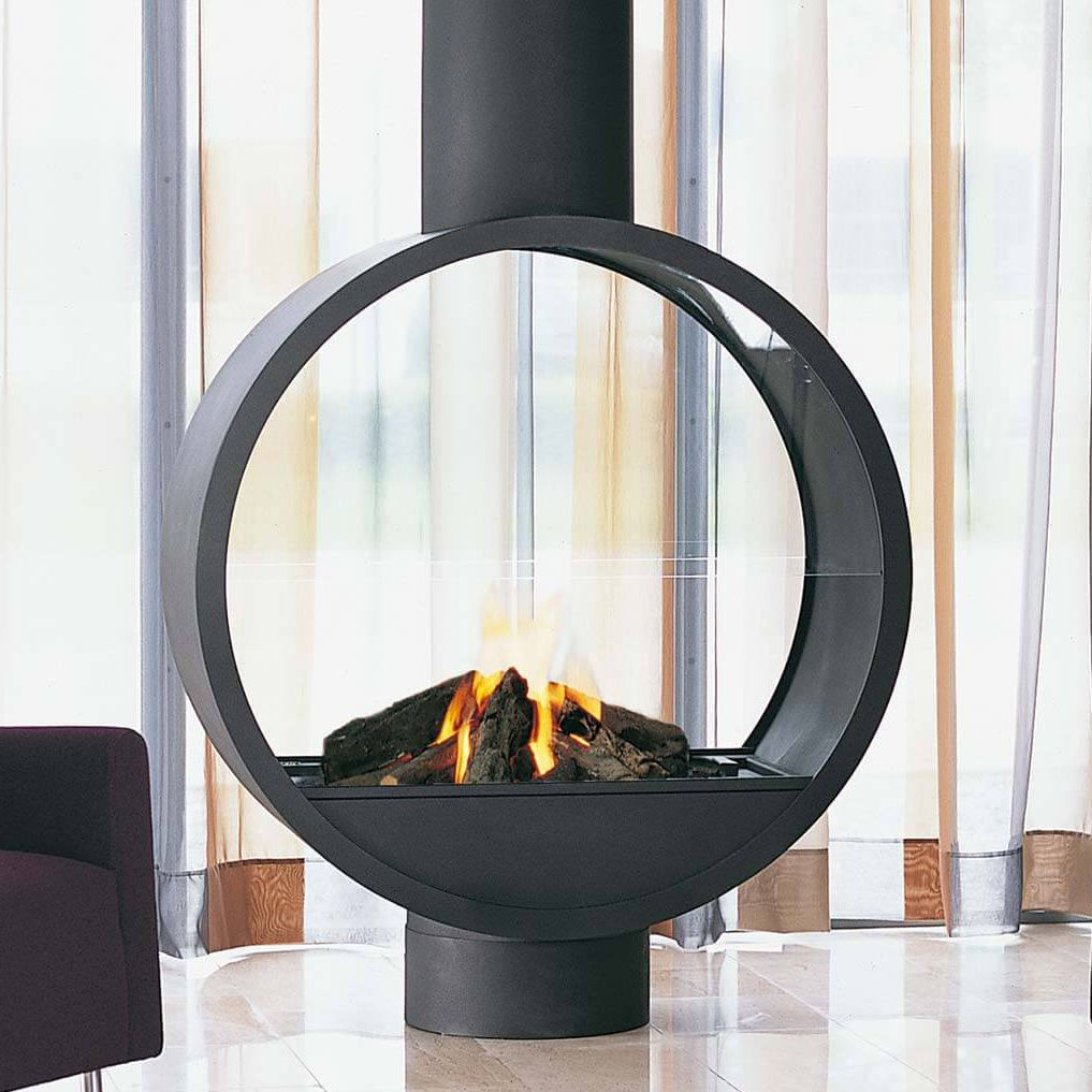 Gas Fireplace Wood Burning Contemporary Open Hearth 997