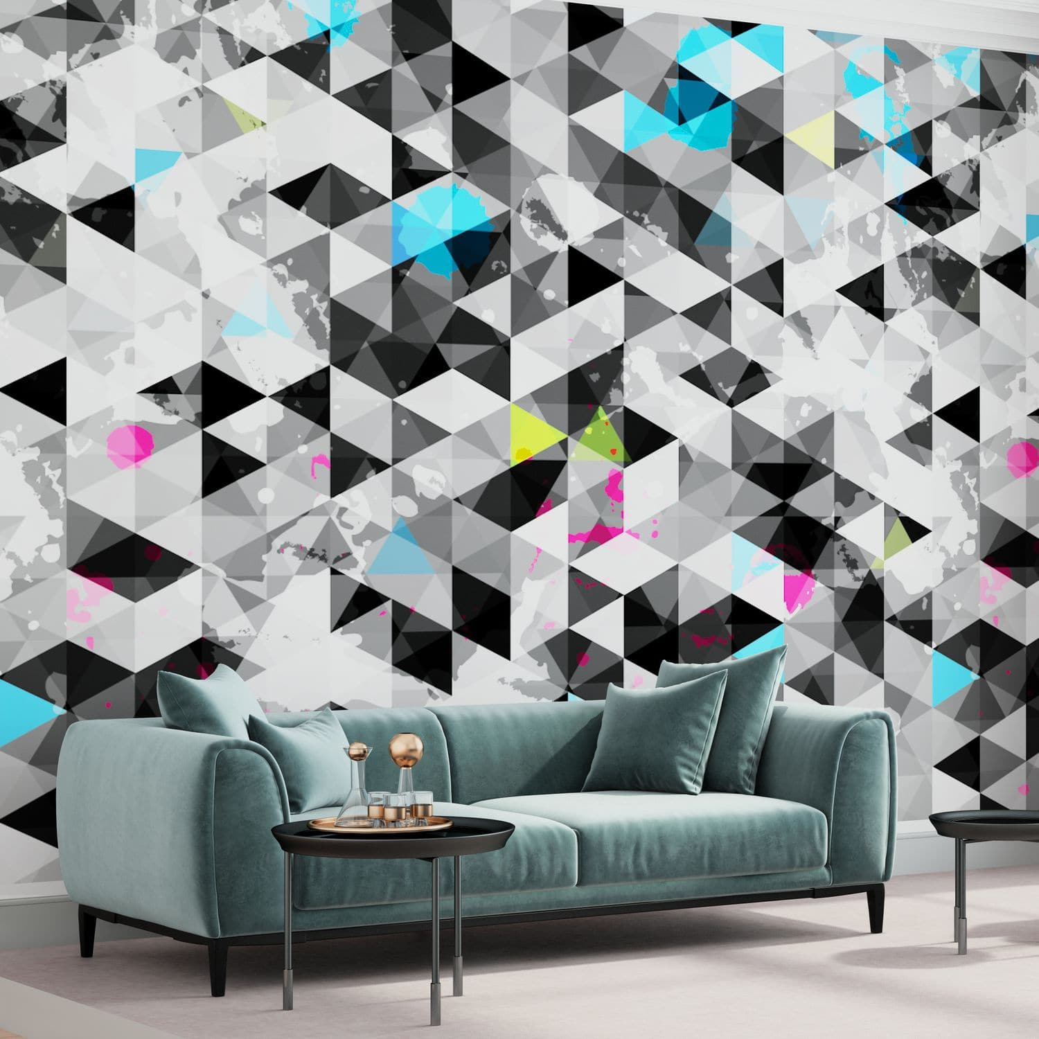 Contemporary Wallpaper Nonwoven Fabric Vinyl Patterned