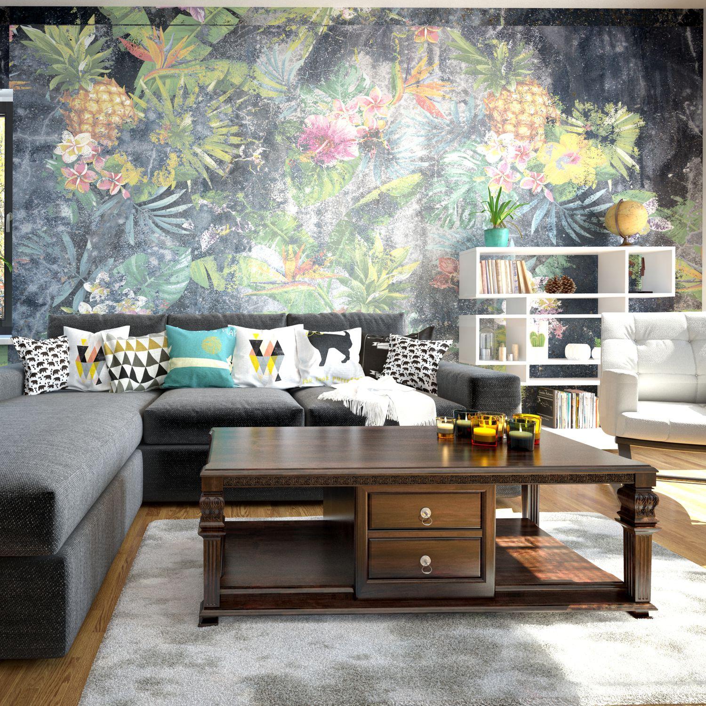 Modern Wallpaper Nonwoven Fabric Vinyl Floral Hd 632a