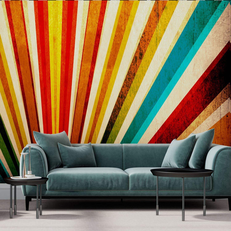 Modern Wallpaper Nonwoven Fabric Vinyl Striped Hd