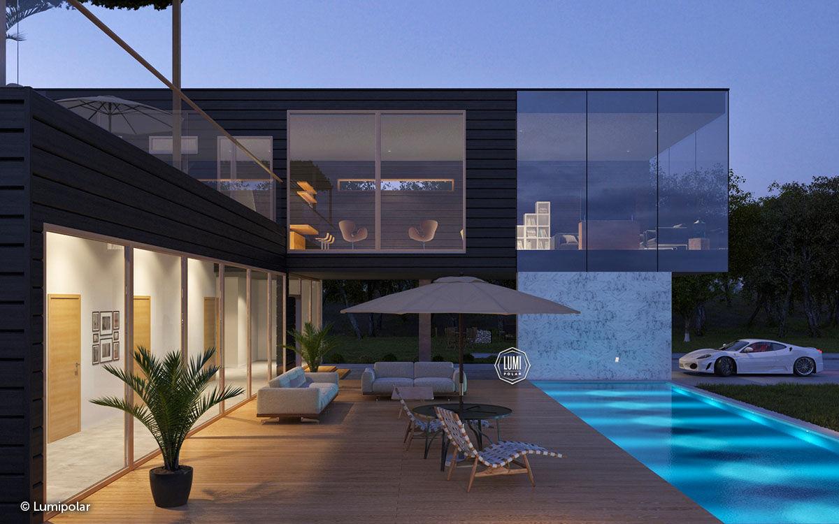 Archi In Casa Moderna prefab house - open 261 - lumi polar - contemporary / glue