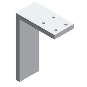 Aluminum Table Base Contemporary Pm Equerre 150 Aluminium Ferri