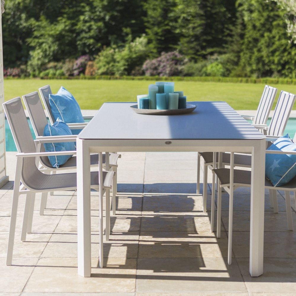Set Tavolo E Sedie Esterno.Contemporary Table And Chair Set Aluminum Garden Home