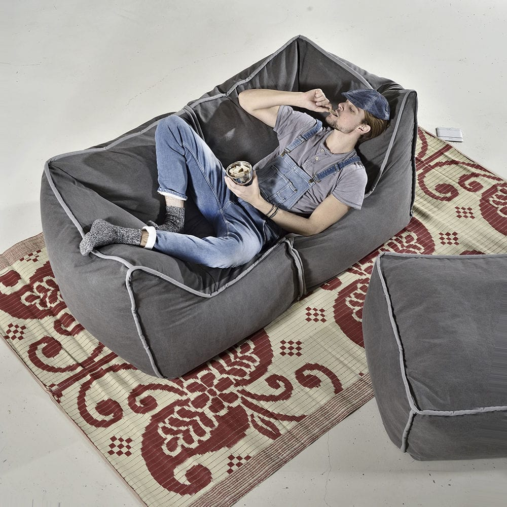 Peachy Contemporary Bean Bag Fabric Gray Blue Funky Corner Caraccident5 Cool Chair Designs And Ideas Caraccident5Info