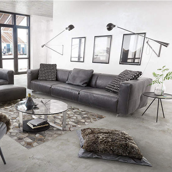 Contemporary Sofa President Tm Collections Gmbh Co Kg Tommy M Leather 3 Seater Black