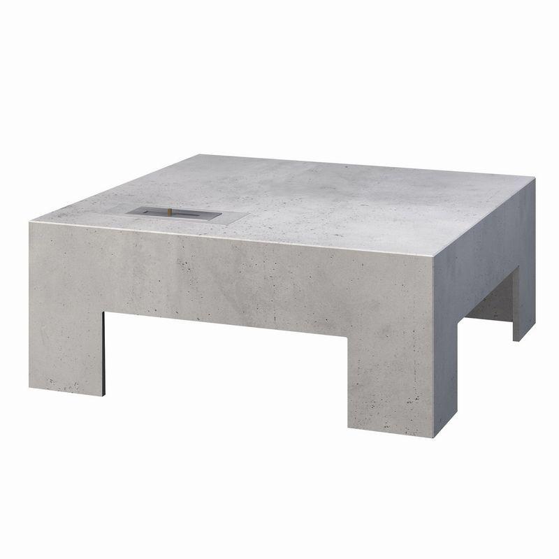Contemporary Coffee Table Concrete Gl Square Break On Fire