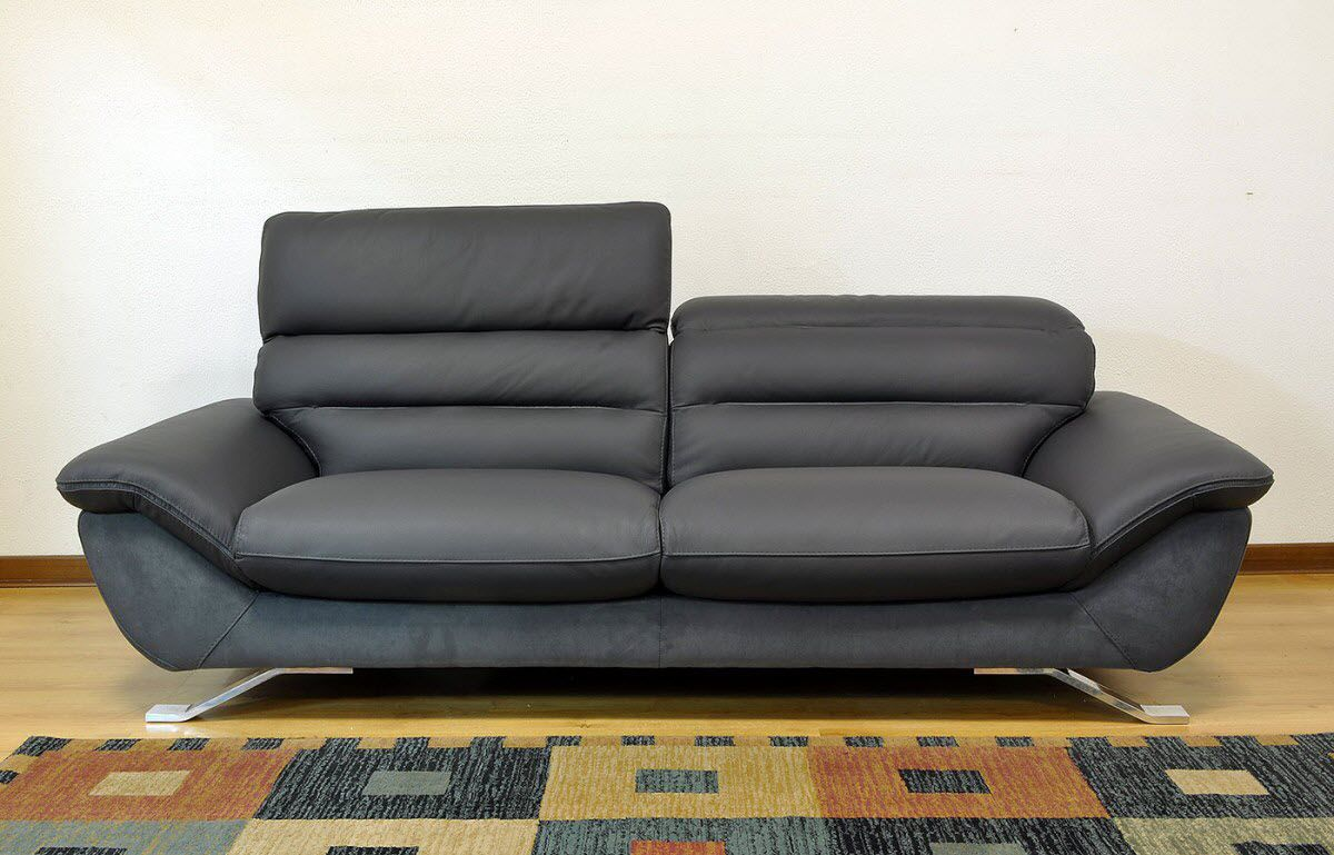 Contemporary Sofa Leather 2 Person 3 Seater Cruise