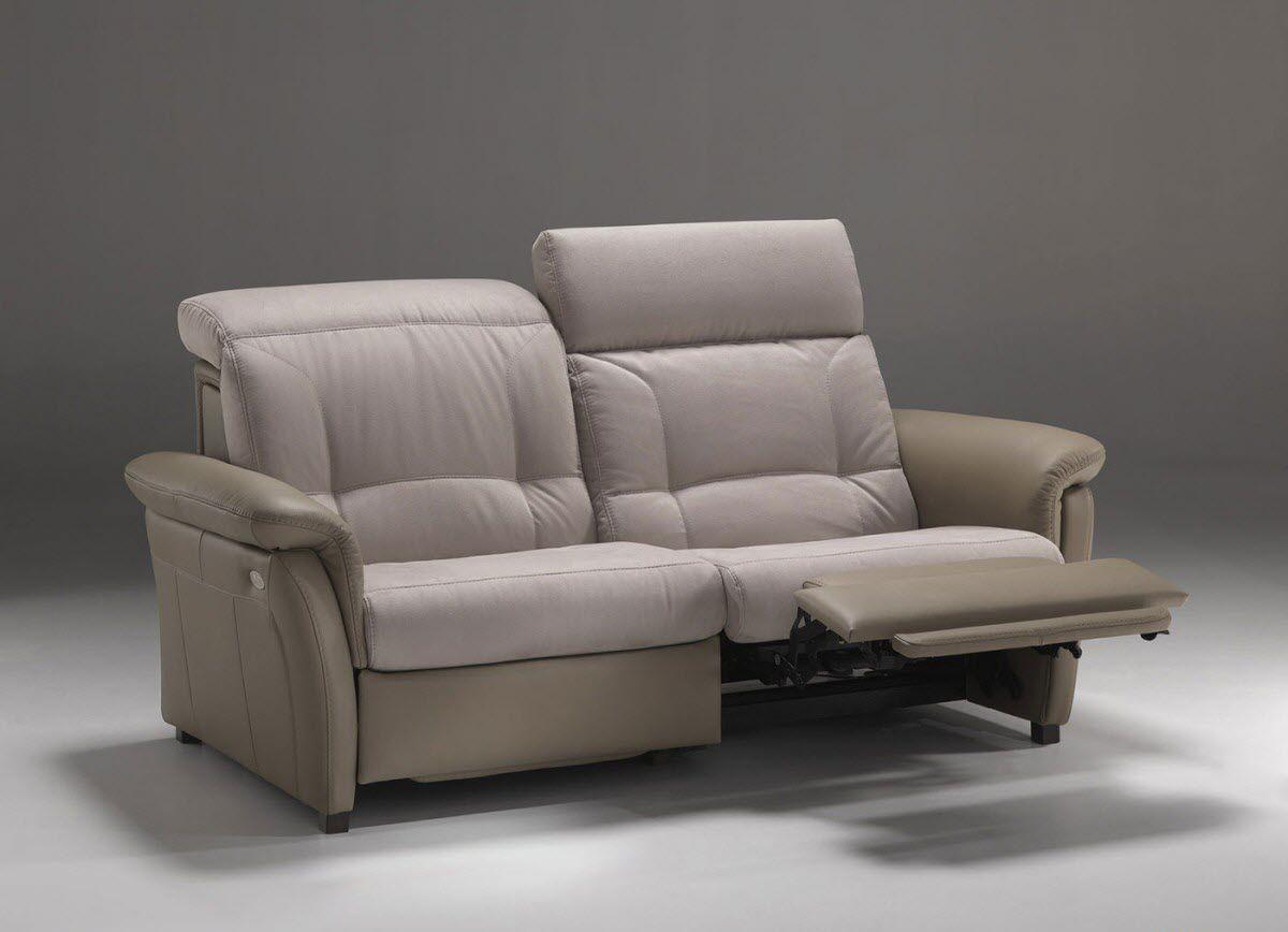 Contemporary Sofa Fabric Leather