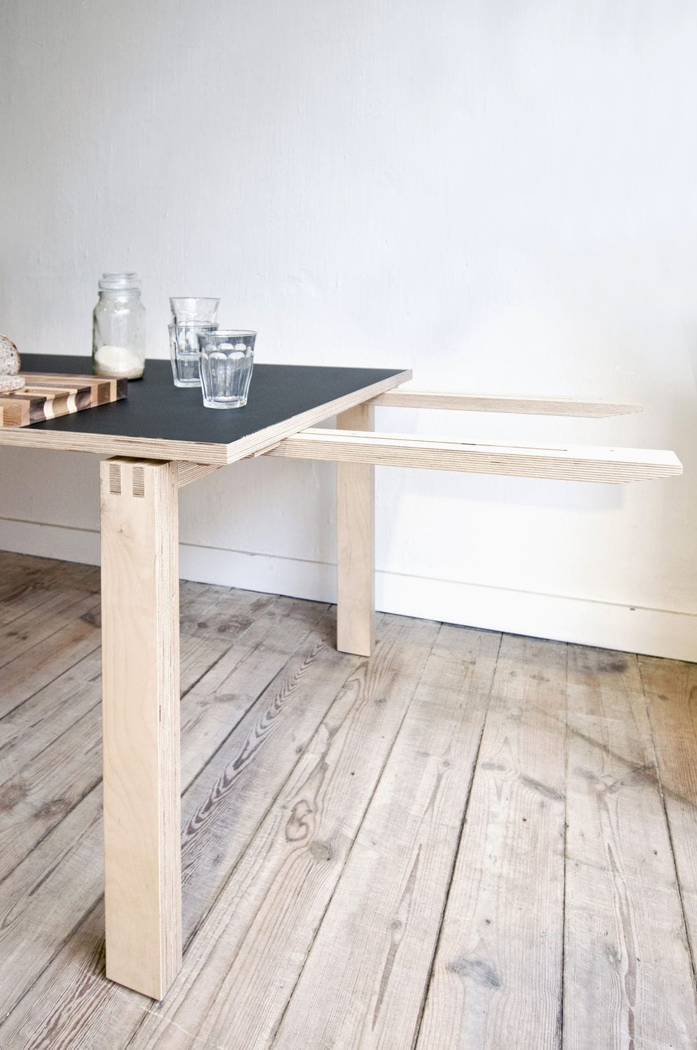 Contemporary Dining Table Oak Birch Plywood