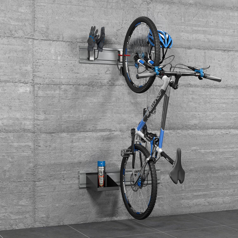 Wall Mounted Bike Rack Steel Aluminum Plastic