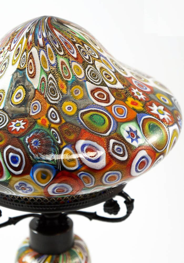 Table Lamp Murrina Millefiori Made Murano Glass Blown Glass Traditional
