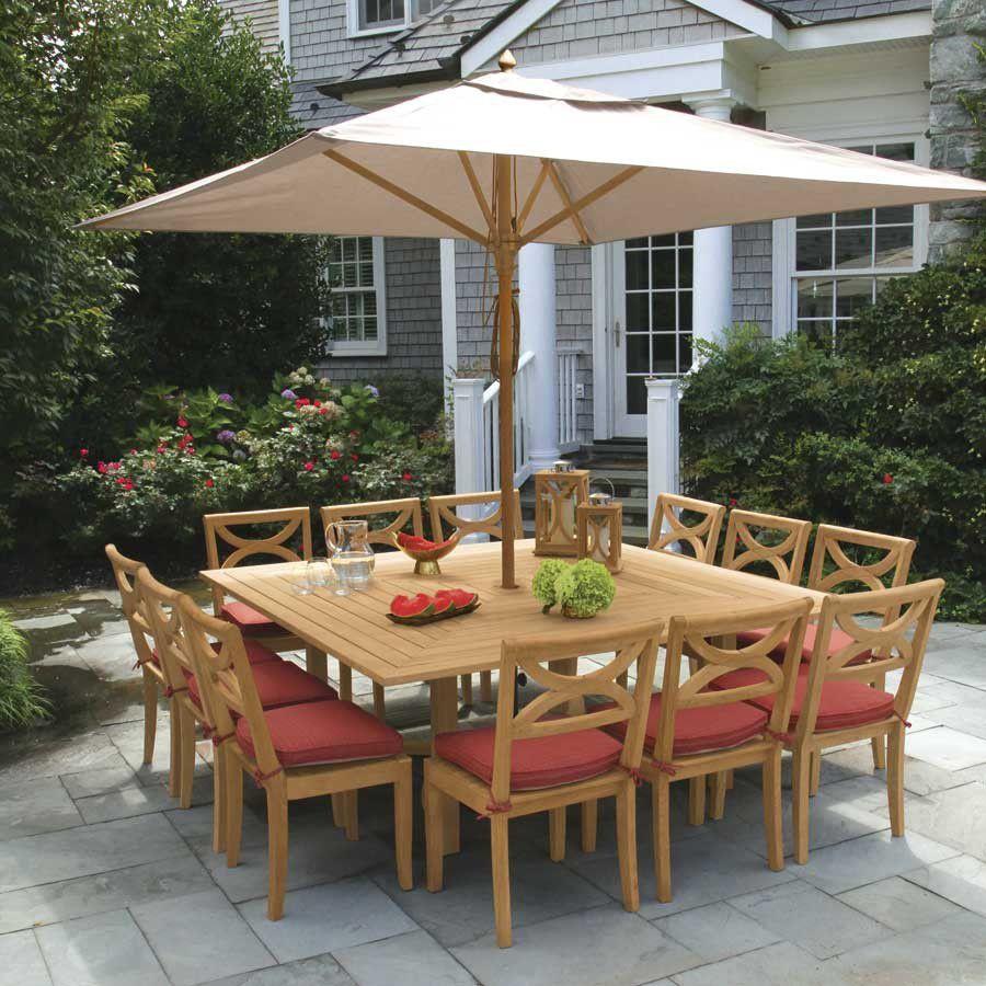 Tavolo Da Giardino Teak.Contemporary Dining Table Fiori 9523 Country Casual Teak