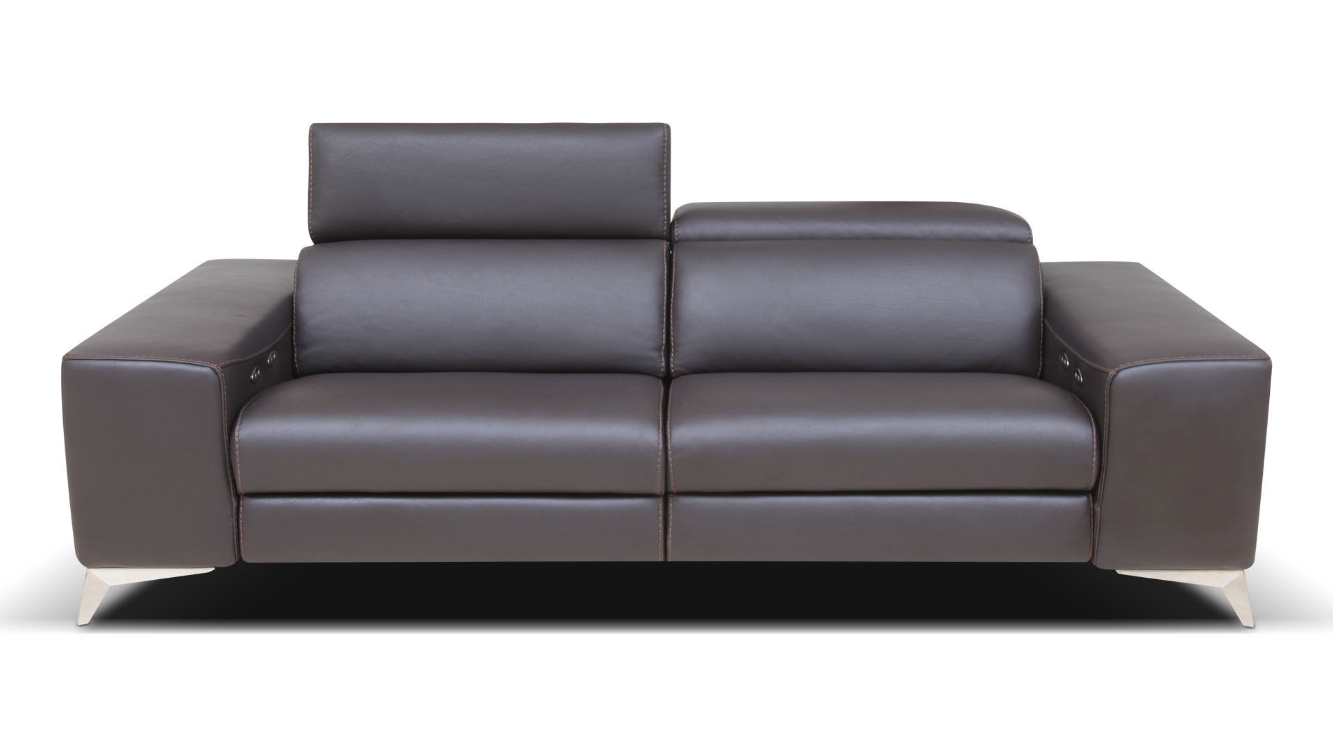 Enjoyable Contemporary Sofa Leather Reclining With Headrest Caraccident5 Cool Chair Designs And Ideas Caraccident5Info