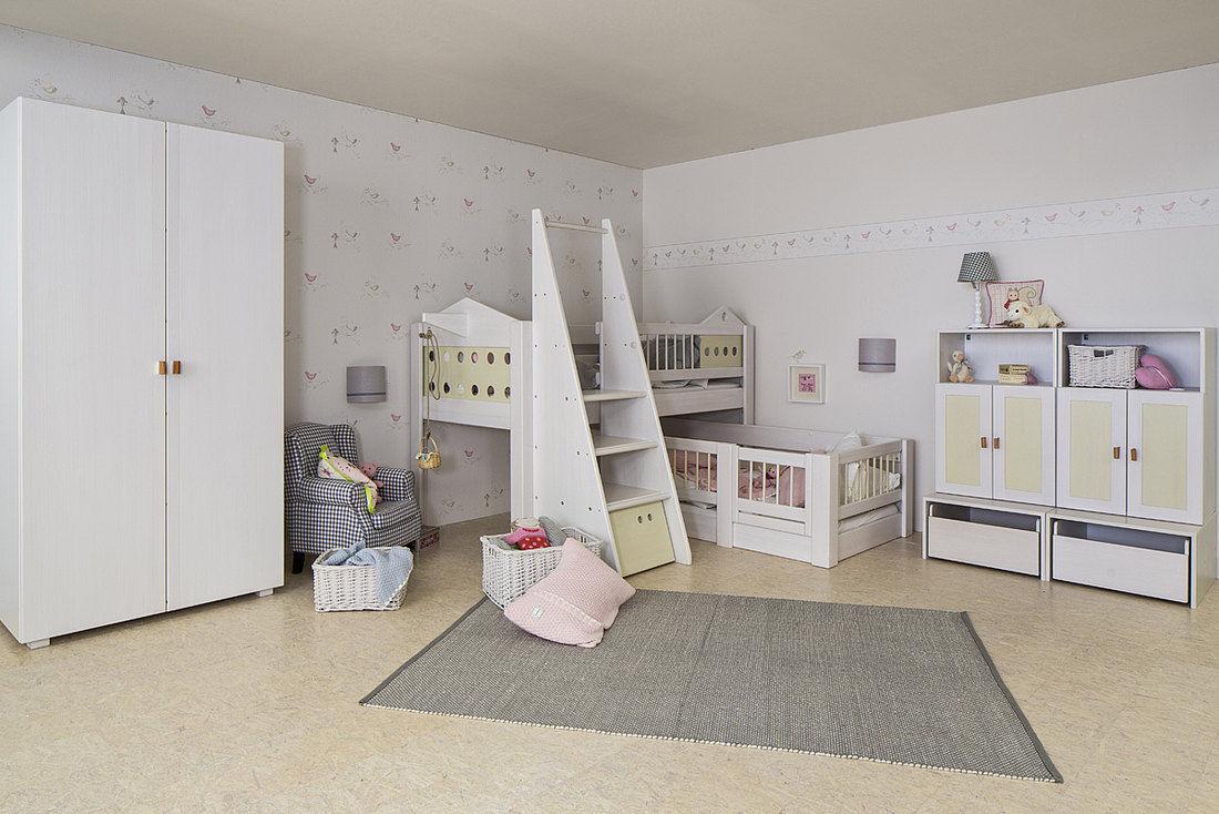 White Children S Bedroom Furniture Set Debe Deluxe Kids Room 05 De Breuyn Unisex Baby