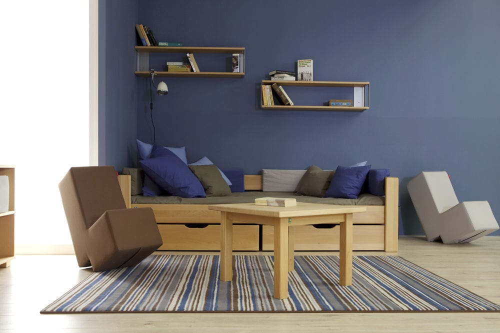 Blue Children S Bedroom Furniture Set Debe Deluxe Teenagers Room 03 De Breuyn Boy S