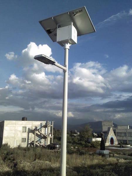 Solar Lamppost Urban Contemporary Metal Si Esf L