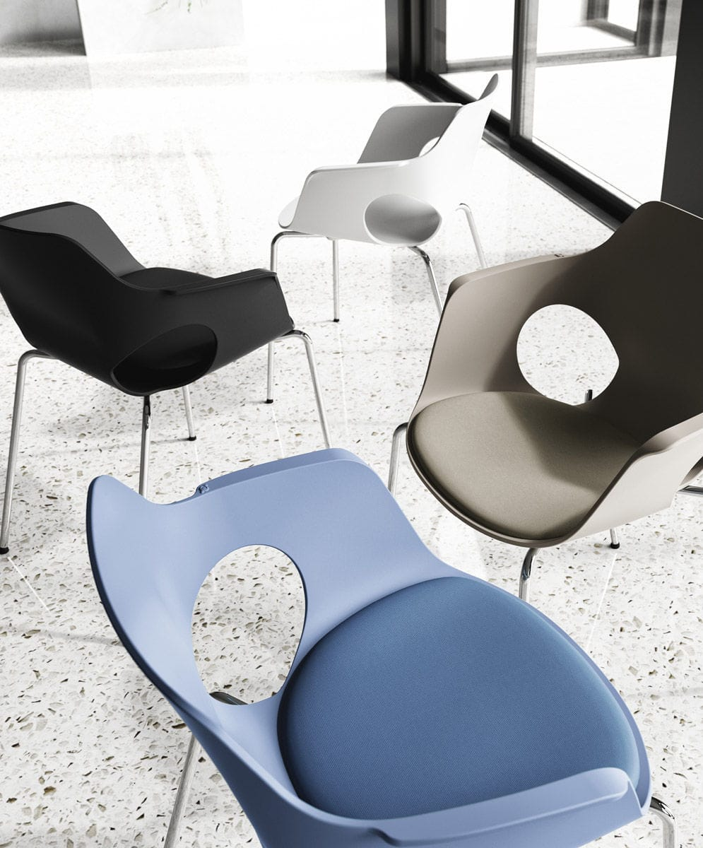 Contemporary Visitor Chair Jamila Arte D Srl With Armrests On Casters Star Base