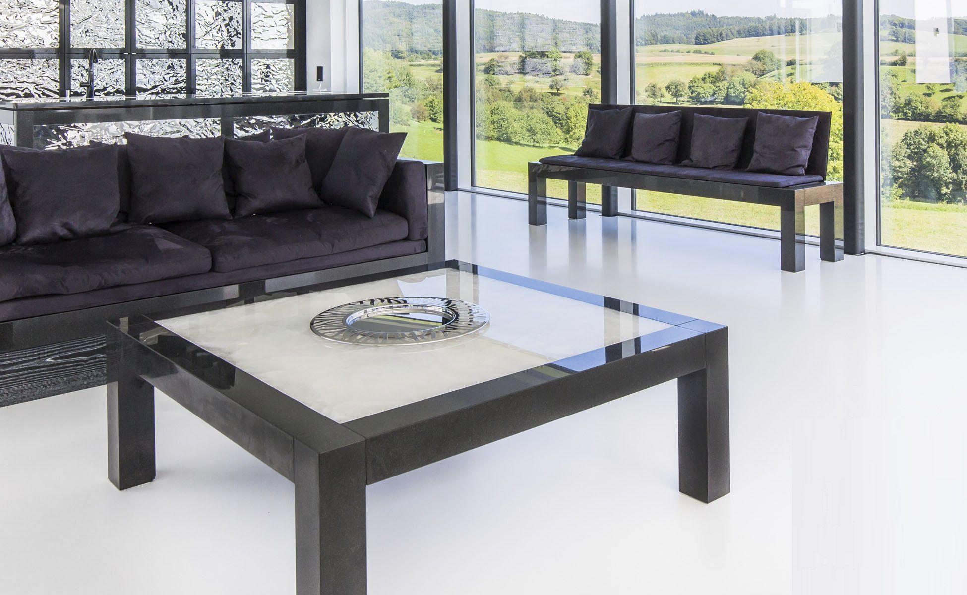 Contemporary Coffee Table Marble Granite Quartz Luis